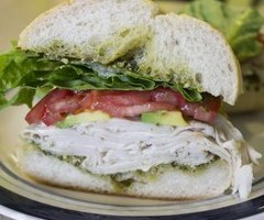 Turkey, Avocado & Walnut Pesto Sandwich