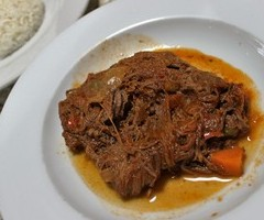 Ropa Vieja with Roman Beans and White Rice