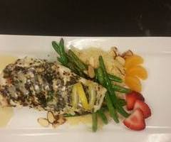 Herb Encrusted Halibut