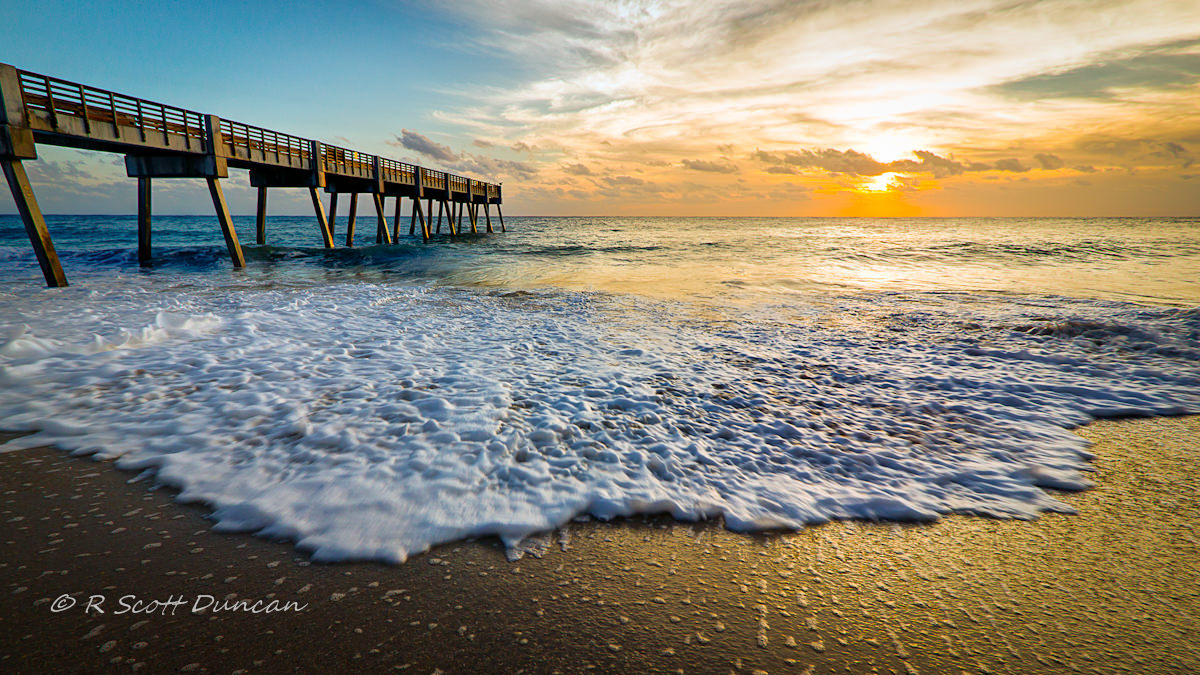 Vero Beach Pier Sunrise