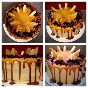 Chocolate Sunrise Cake