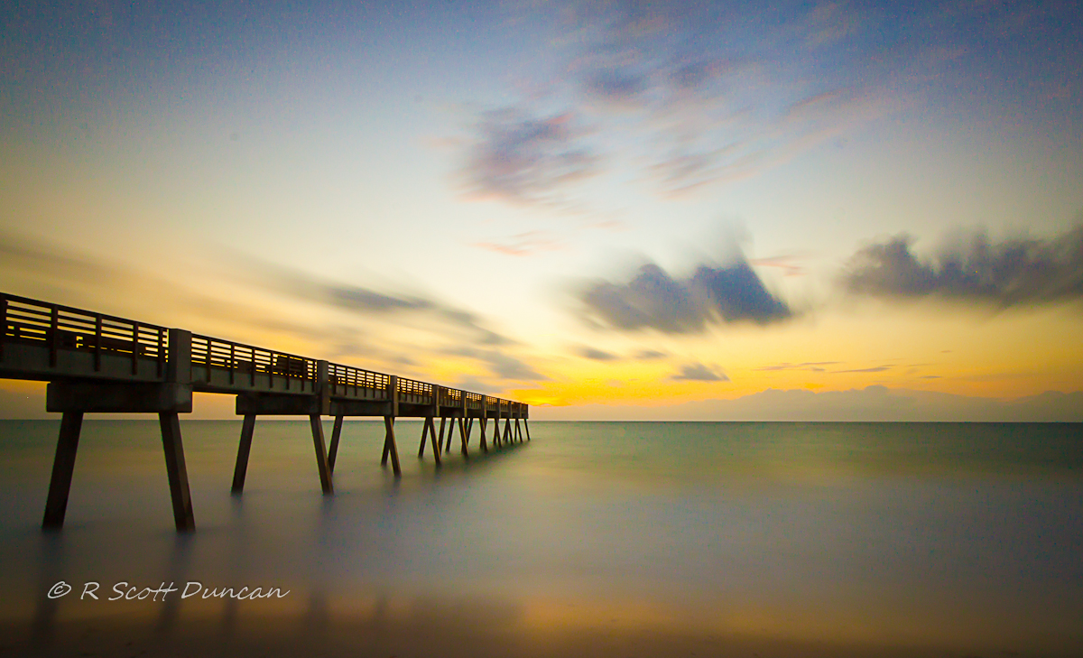 Vero Pier Sunrise - Clouds in Motion
